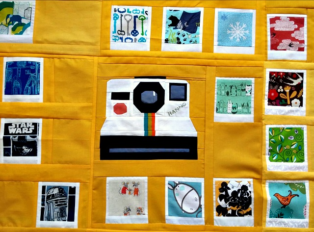 Polaroid Quilt, Photo Quilt, Puppilalla, paper piecing
