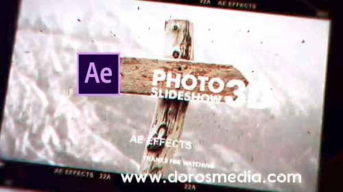 قوالب افتر افكت قالب عرض صور سلايد شو مميز Photo Slideshow 3D  - Free After Effects Template