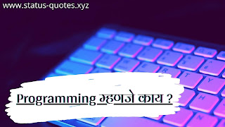 Programming म्हणजे काय ? Computer Programming Information in Marathi