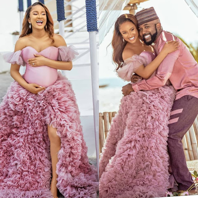 Banky W and Adesua Etomi welcomes a baby boy (Pictures)