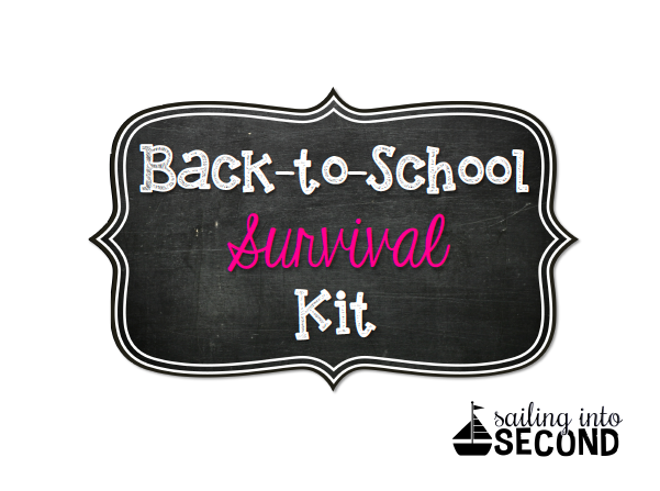 Back-to-School Survival Kit, Sailing into Second, second grade blogger, back to school