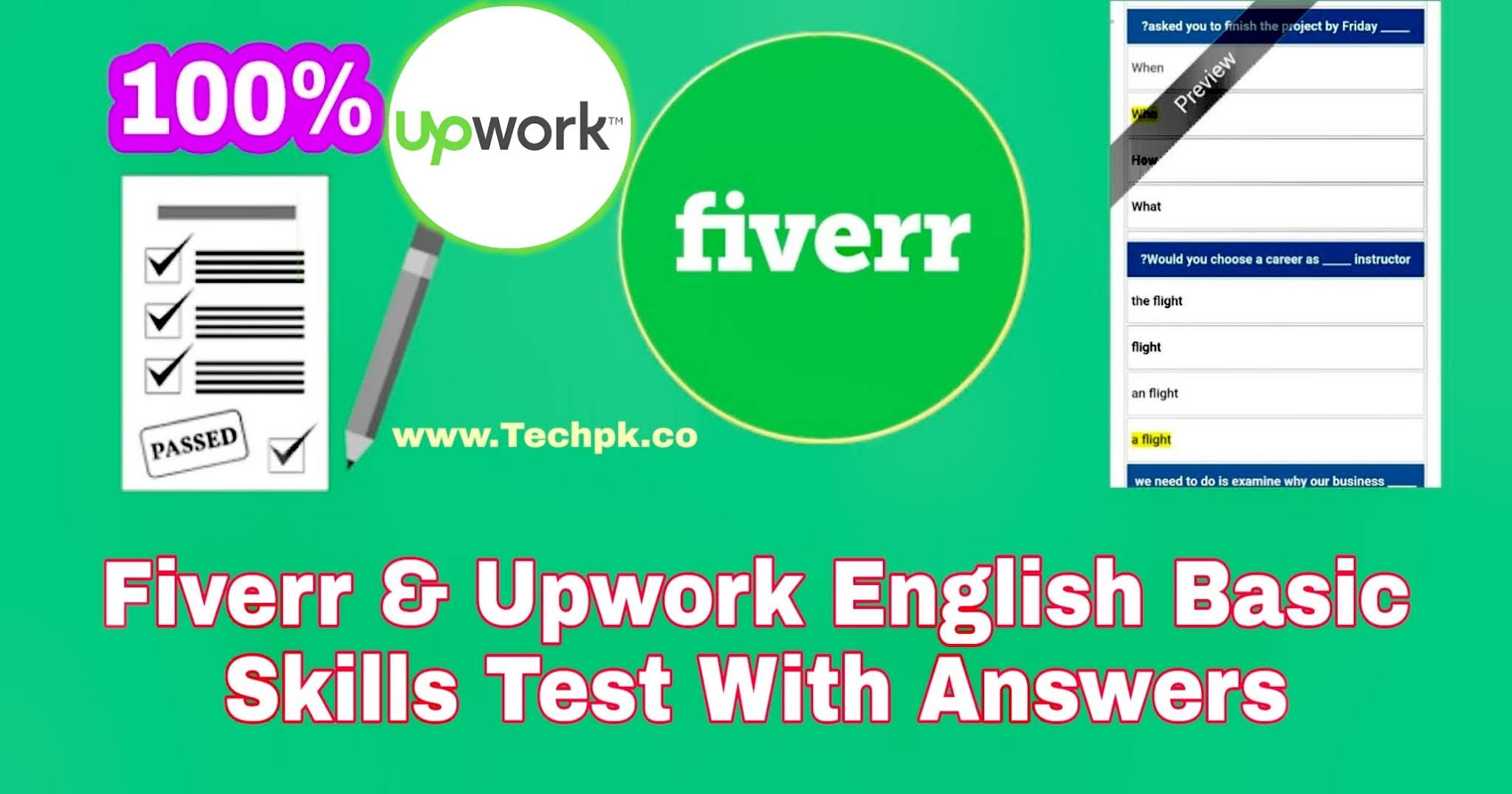 Fiverr And Upwork English Basic Skills Test With Answers 2021