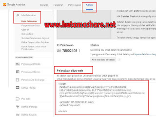Pasang Google Analytics ke Blog