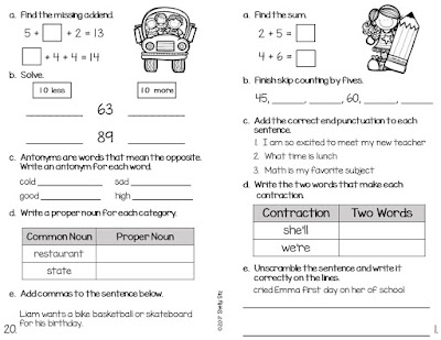 Second Grade Review