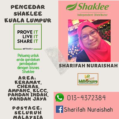 Pengedar Shaklee KLCC 0134372384