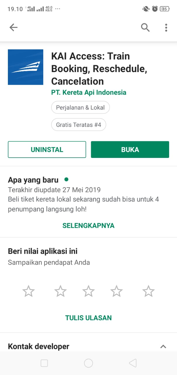 Cara Pesan Tiket Online Kereta Ekonomi Lokal Bojonegoro Surabaya