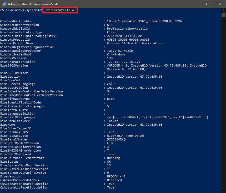 Cara Melihat Spesifikasi PC/Laptop dengan PowerShell