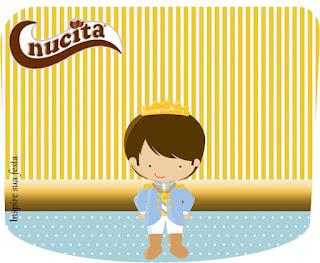 Etiqueta Nucita de Príncipe Azul  para imprimir gratis.