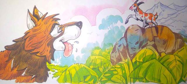 भेड़िया और बकरी (Short Story In Hindi For Class 4th)
