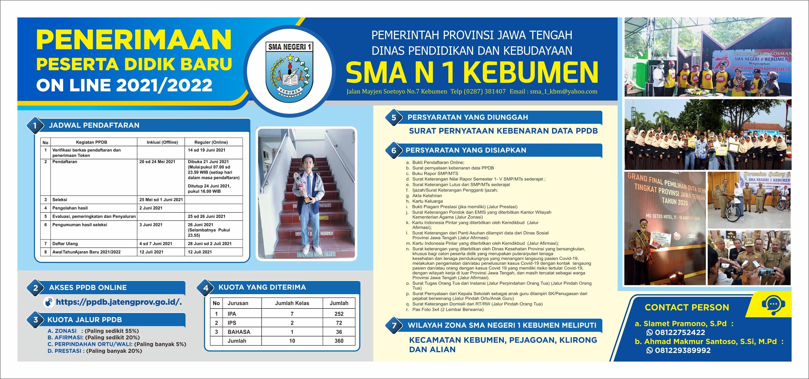 Penerimaan Peserta Didik Baru Tahun Pelajaran 2021/2022