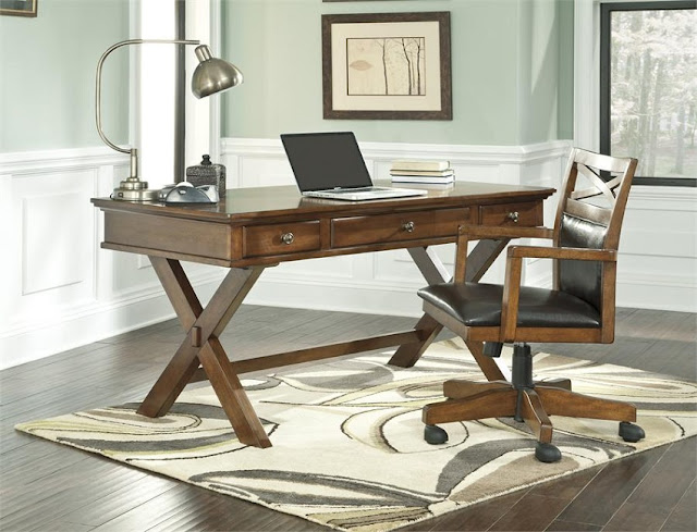ashley home office desk ideas with chair