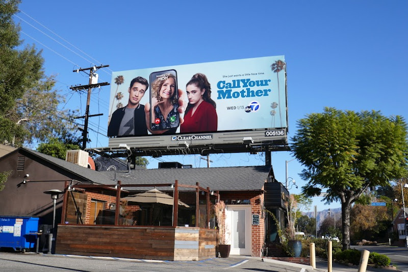 Call Your Mother series launch billboard