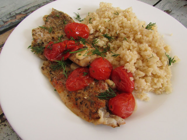 Filety z dorsza zapiekane z pomidorami