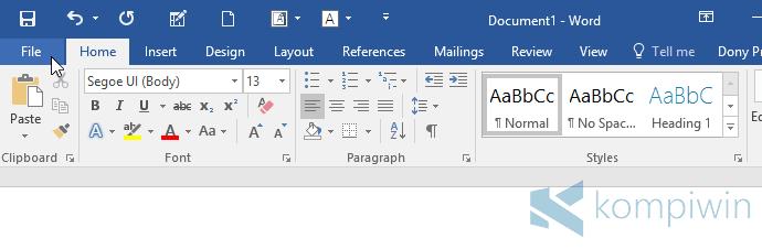 Cara Mengubah Tema & Gambar Titlebar di Office 2016 agar Tampilannya Lebih Cantik 1