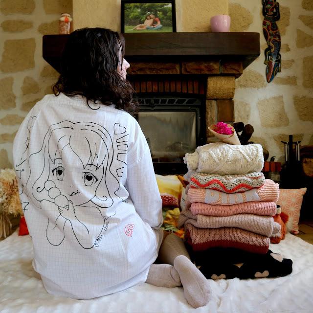 Ma chemise del-san création de dos