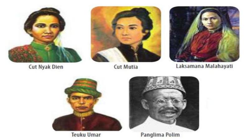 gambar foto dan nama pahlawan perang nasional dari aceh