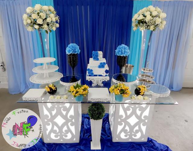 Decoracoes Para Festas 15 Anos: Neide Festas Buffet E Decorações: 15 Anos Azul