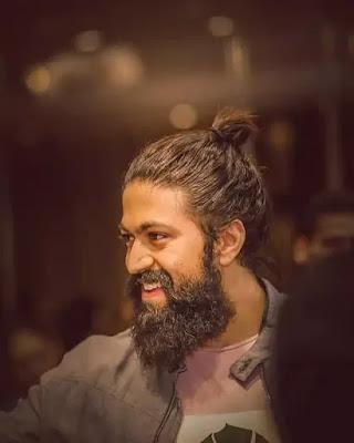Naveen Kumar Yash High Bun Hairstyle