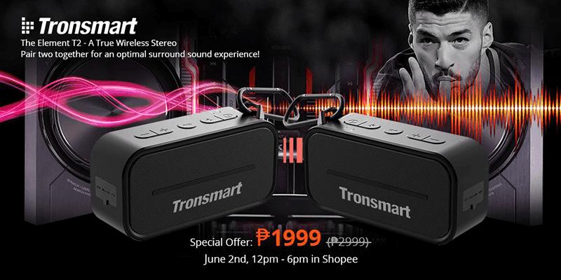 Sale Alert: Get 2 Tronsmart Element T2 speakers for just PHP 1,999!