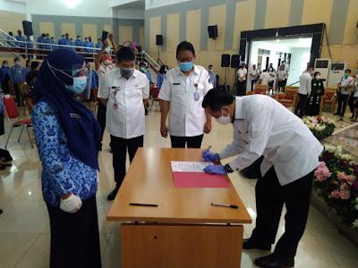 Pjs. Gubernur Sulut Hadiri Pengambilan Sumpah Janji 407 PNS