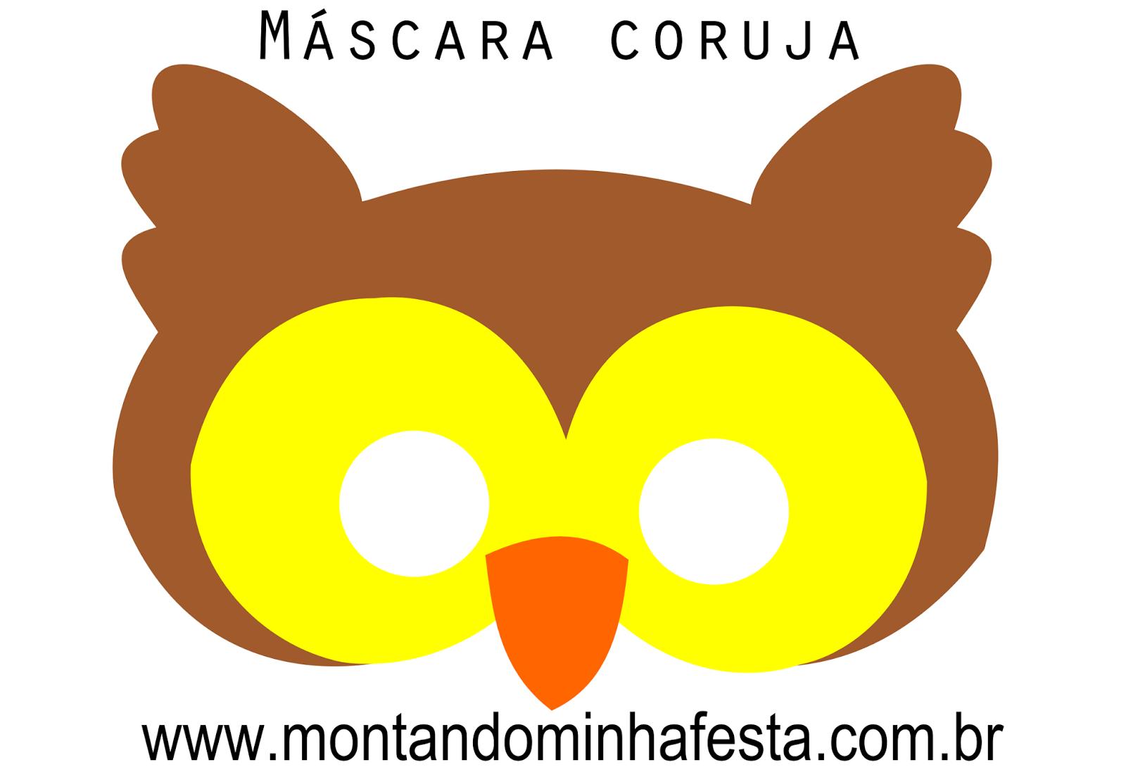 Mascara Coruja Gratis Para Imprimir Montando Minha Festa