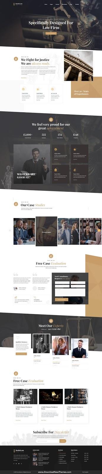 Attorney Website Template