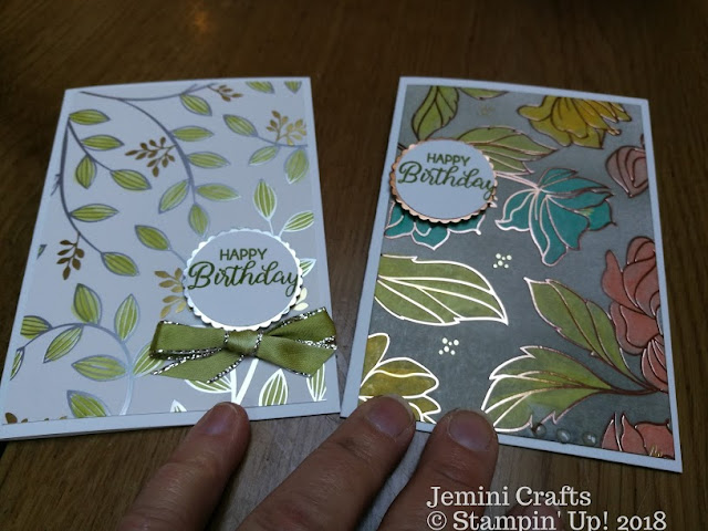 Springtime foils for card making with Jemini Crafts