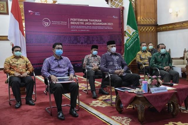 Dihadiri Presiden,  Gubernur Aceh Ikuti Rapat Tahunan PTIJK 2021
