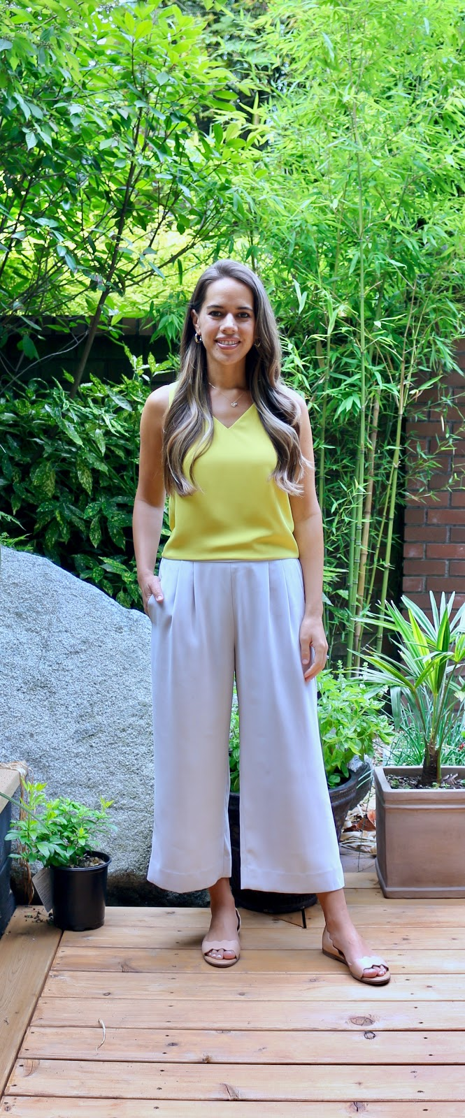 Jules in Flats - Cropped Blouse & Wide Leg Pants (Business Casual Workwear on a Budget)