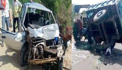 पाली : ट्रैक्टर-ट्रोली में घुसी कार, दो बैंककर्मी घायल