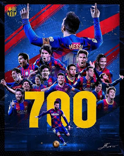 700th #Appearances for #Football #Club #Barcelona by #LEO #MESSI.😍❤ What an Incredible #player he is.