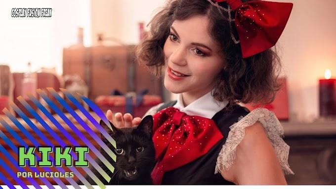 LucioleS con su cosplay de Kiki la bruja novata