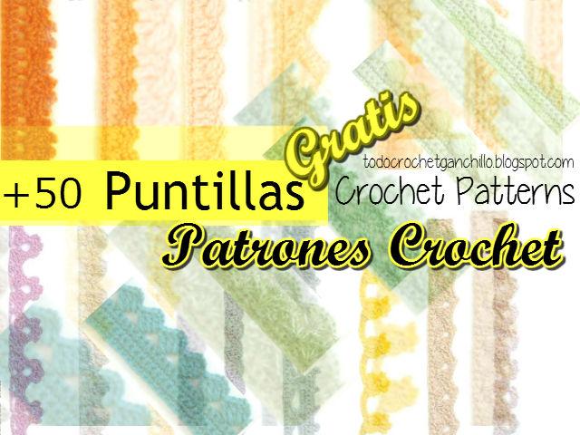 50 patrones de puntillas para tejer con crochet
