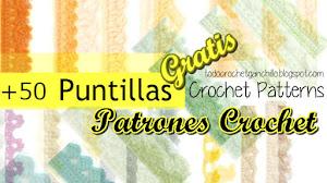 50 Patrones de Puntillas Crochet / Descarga Gratis