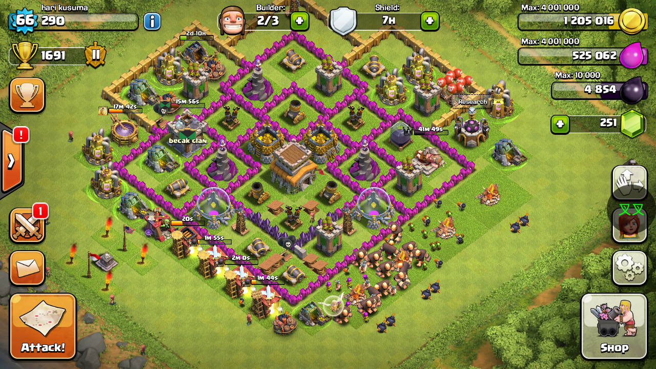 Clash Of Clans War Map