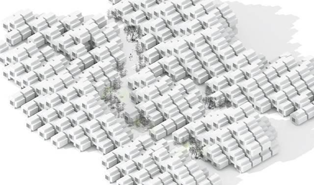 blok perumahan sesak rumah mikro