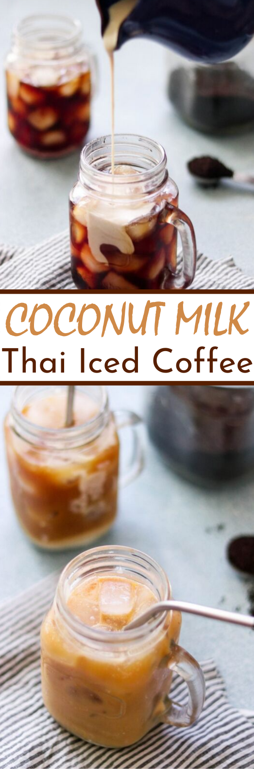 Coconut Milk Thai Iced Coffee #drinks #recipes #coffee #latte #beverages