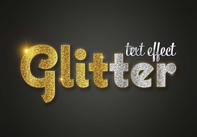 Glitter Text Effect PSD Mockup