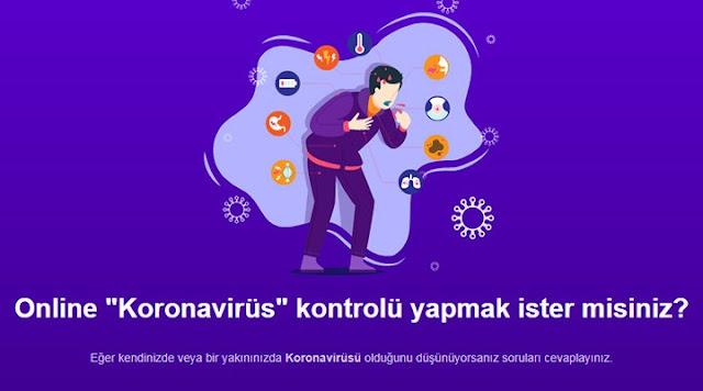 İnternetten Online Korona Virüs Testi
