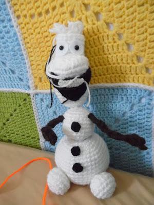 crochet amigurumi frozen olaf work in progress
