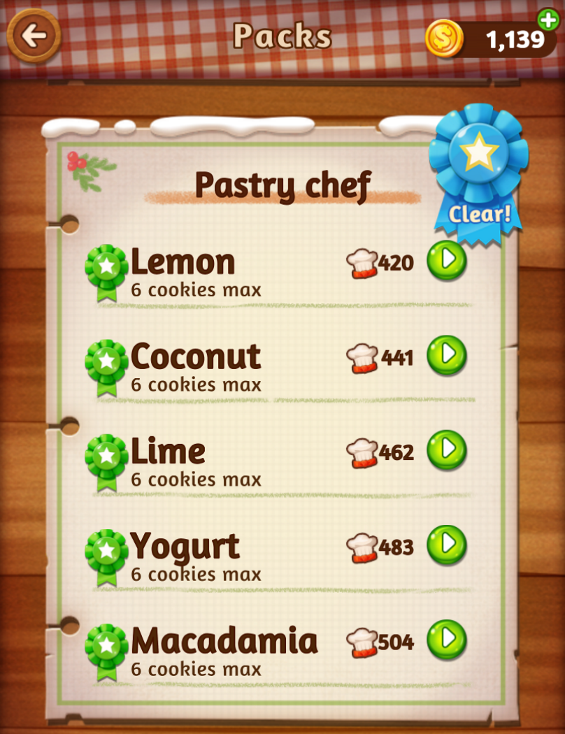 In-<b>game</b> Info: <b>Word Cookies</b> Pastry Chef <b>Answers</b>