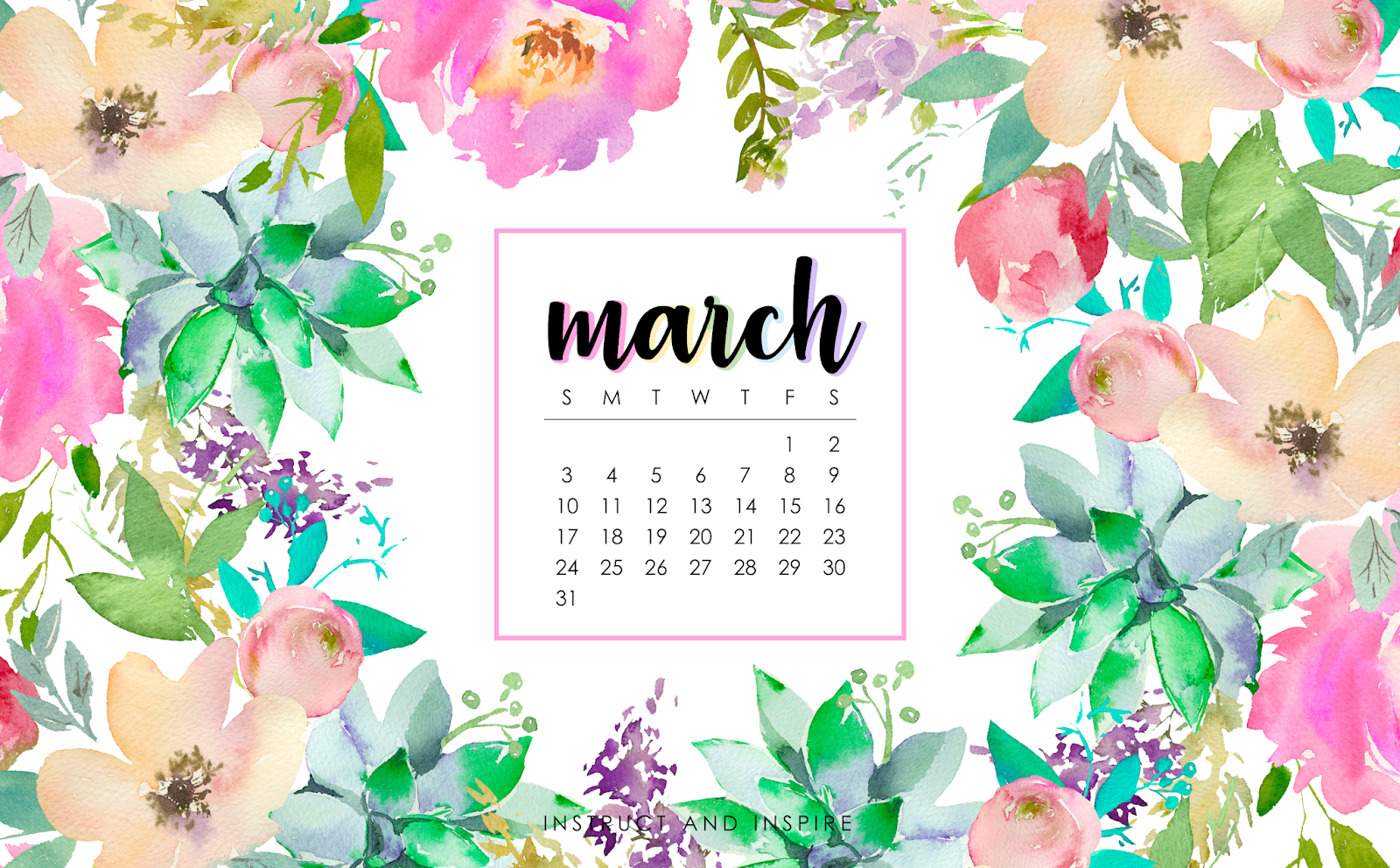March 2019 Wallpapers Instruct And Inspire