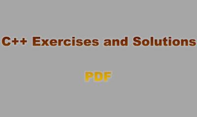 C++ Exercises and Solutions PDF