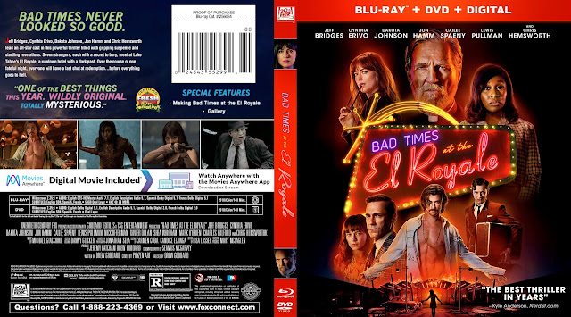 Bad Times at the El Royale Bluray Cover