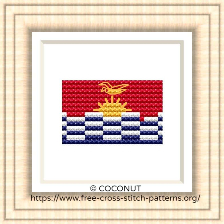 NATIONAL FLAG OF KIRIBATI CROSS STITCH CHART