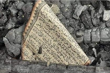 Viral Foto Selembar al-Qur'an Utuh di Tengah Puing Kebakaran Rumah