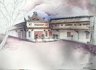 Tranh ký họa phong cảnh của SV Zest Art - Sketch & Connect