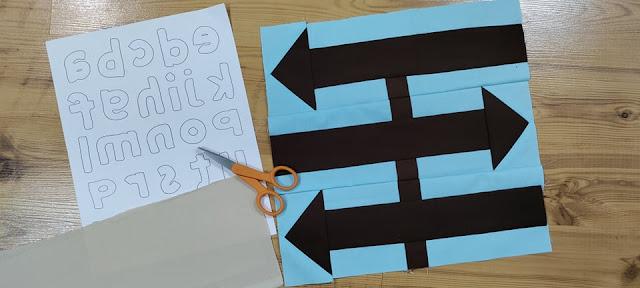 Travel sign quilt block