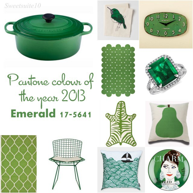 colour of the year 2013 - Pantone emerald 17-5641