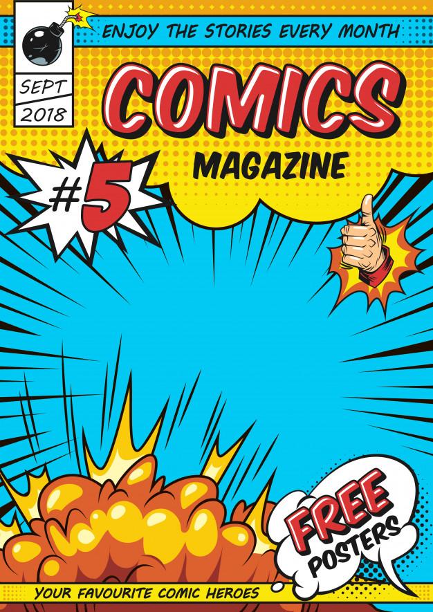 Buku Comics Free Poster